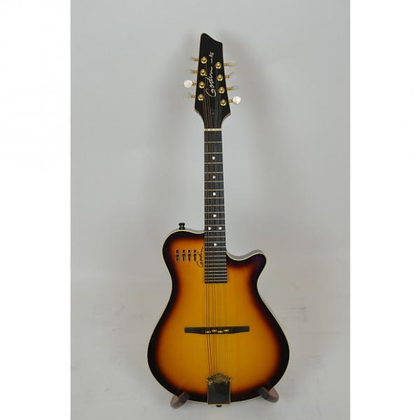 Custom Godin A8 electric mandolin w/gig bag, Cognac Burst, used #1 image