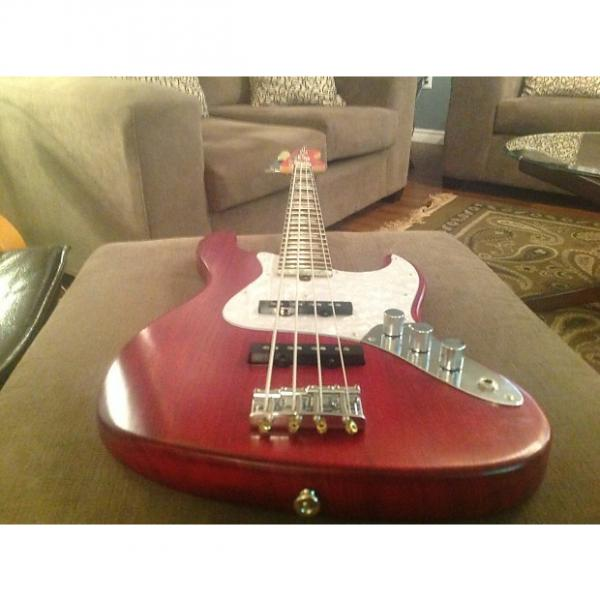 Custom Bacchus WL-JB ASH4R L-RED/OIL Hand Crafted in Japan Bass MINT!! + HS Case!! #1 image