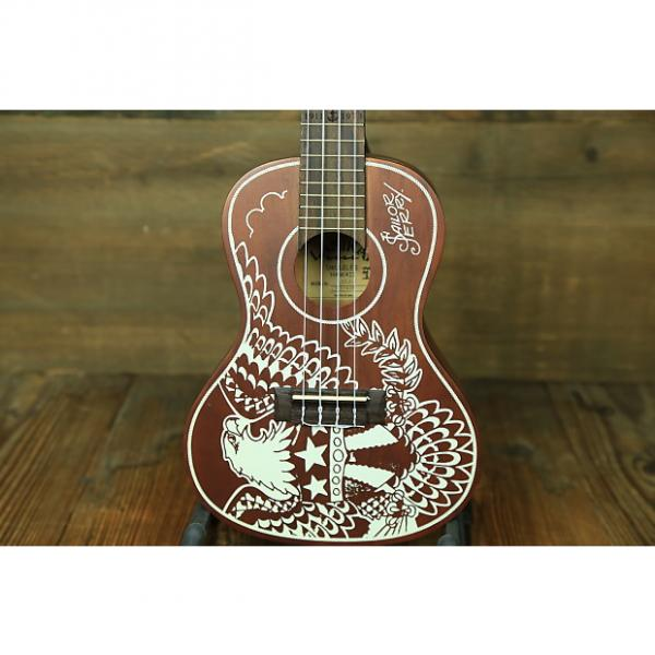 Custom Lanikai Sailor Jerry Concert Ukuele Natural/ White Inlay #1 image