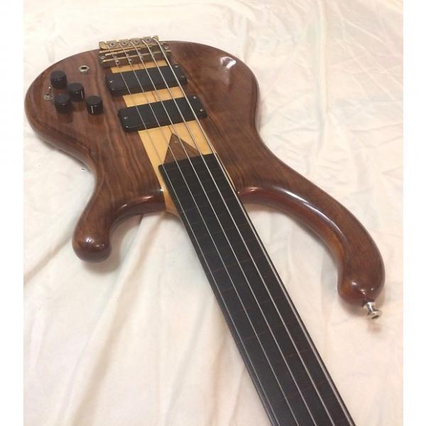 Custom Five String Fretless Mark Campellone Design #99 1992 Natural #1 image