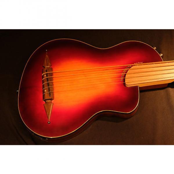 Custom Rick Turner Renaissance  5 String Acoustic Electric Fretless Bass (RB 5-FL) Cherry Sunburst #1 image