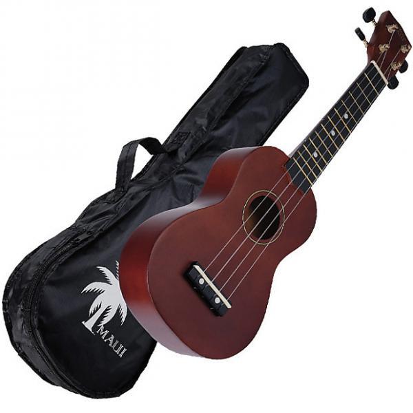 Custom Maui MUK10 natural ukelele soprano con funda #1 image