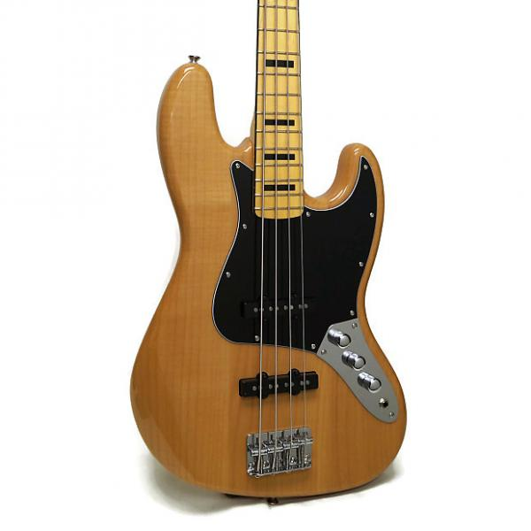 Custom Squier Vintage Modified Jazz Bass '70s Electric Bass - Natural #1 image