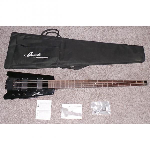 Custom Steinberger Spirit XT-2 Standard Bass Guitar Black Excellent Condition In Original Case #1 image