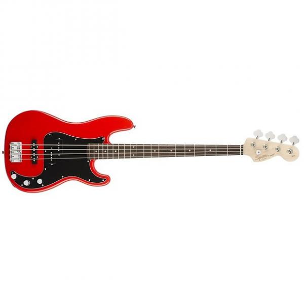 Custom Squier Affinity Series 4-String PJ Precision / Jazz Bass - Racing Red #1 image