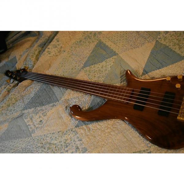 Custom Custom Fretless 5 String Bass  Natural Project #1 image