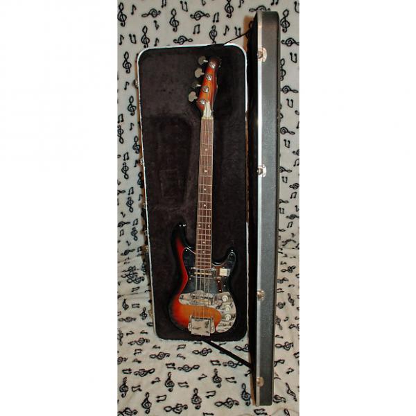 "Custom Teisco ""Chromezilla"" Fender Jazz Bass Copy- Gold Foil Pickups, 34 Inch Scale #1 image"