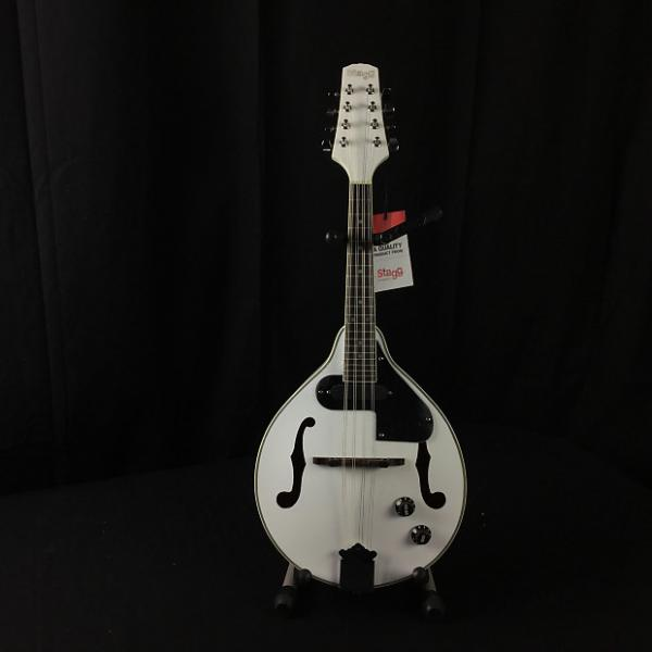 Custom Stagg M50 E WH - Electric/Acoustic Mandolin #1 image