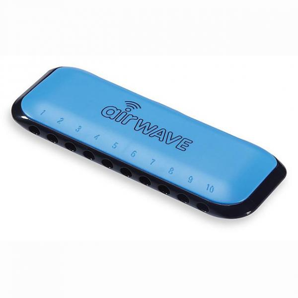 Custom Airwave 1B Harmonica with Instruction Booklet - Blue #1 image