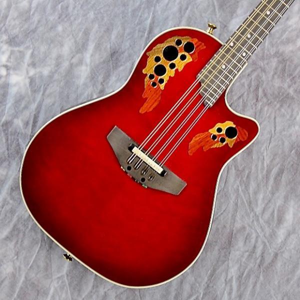 Custom Ovation MM68AX Acoustic-Electric Roundback Mandolin w/ Ovation Hard Case #1 image