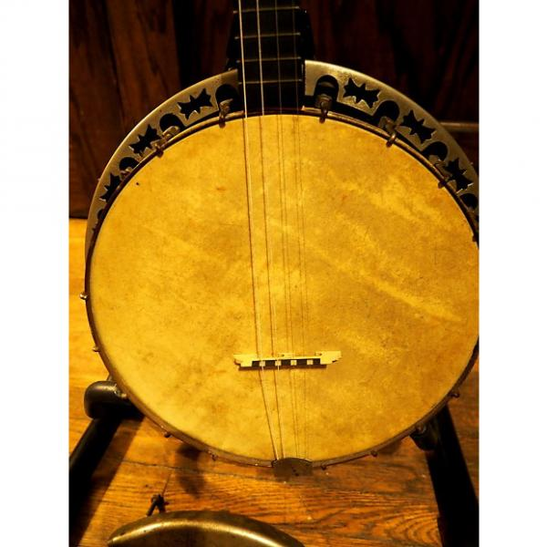 Custom VINTAGE 1920s BANJO: Old-time 4-string Tenor, 19 frets-- Play as-is or Restore   #1 image