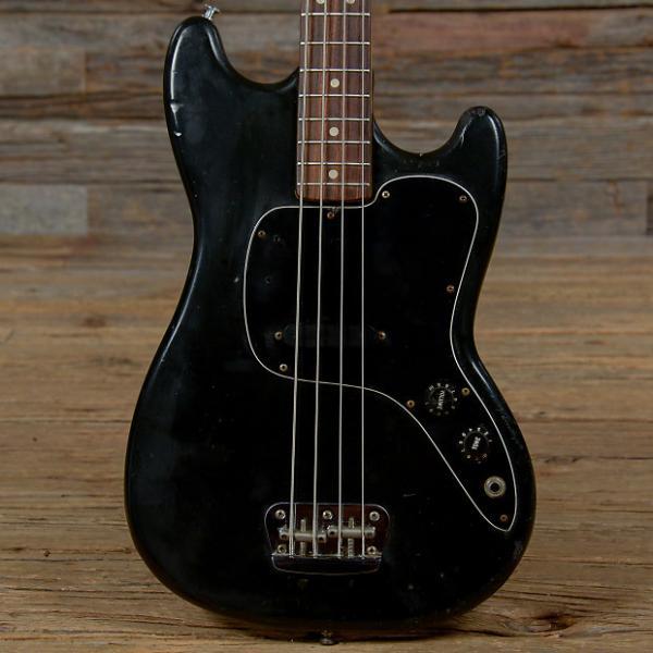 Custom Fender Musicmaster Bass Black 1978 (s003) #1 image