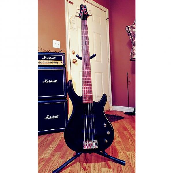 Custom Squier MB-5 Bass Guitar 2002 Metallic Black #1 image