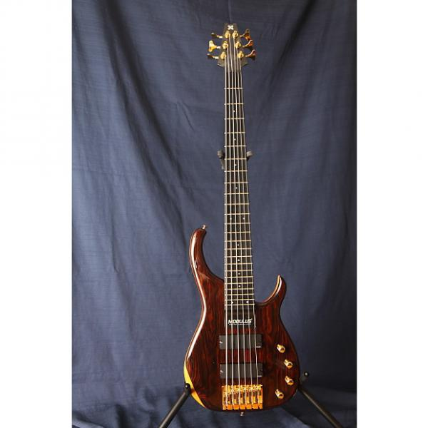 Custom Modulus Quantum 6 String Bass 1993 Cocabola Top with Mahogany Back #1 image