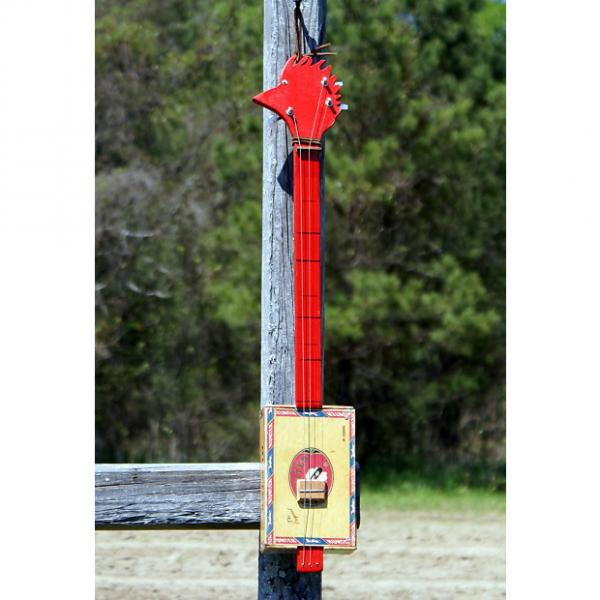 Custom Kountry Cuz 3 String Hunter Wood Pecker head Cigar Box Guitar #1 image