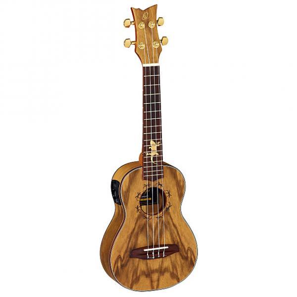Custom Ortega Guitars Lizard Series Concert Ukulele with Paldao Top/Body and Pickup #1 image