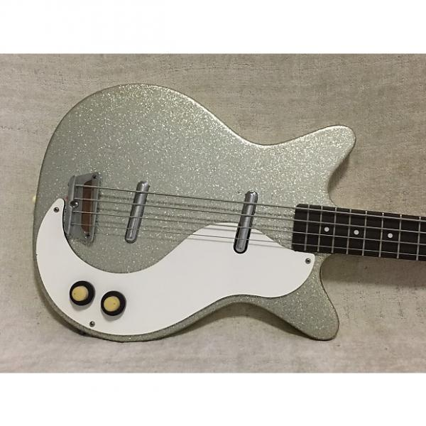 Custom Danelectro DC Bass Right Handed 1998-2001 Silver Sparkle #1 image
