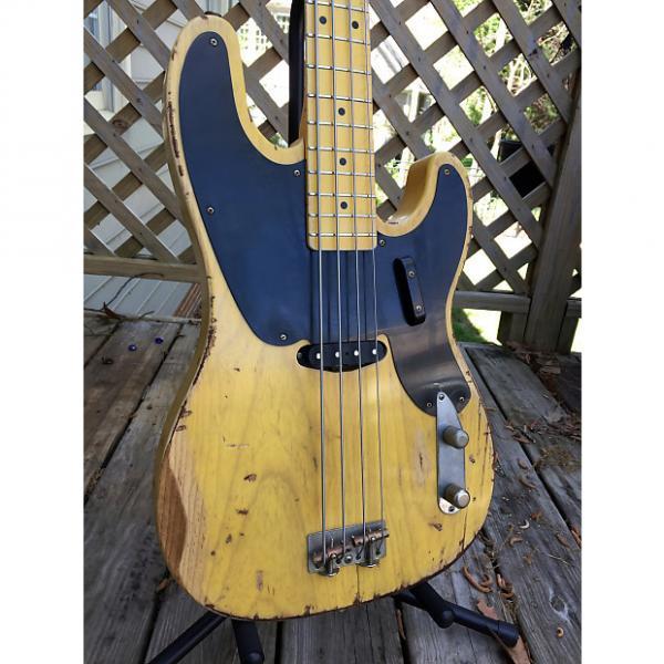 Custom Nash PB-52 Butterscotch Blonde bass guitar with case; precision #1 image