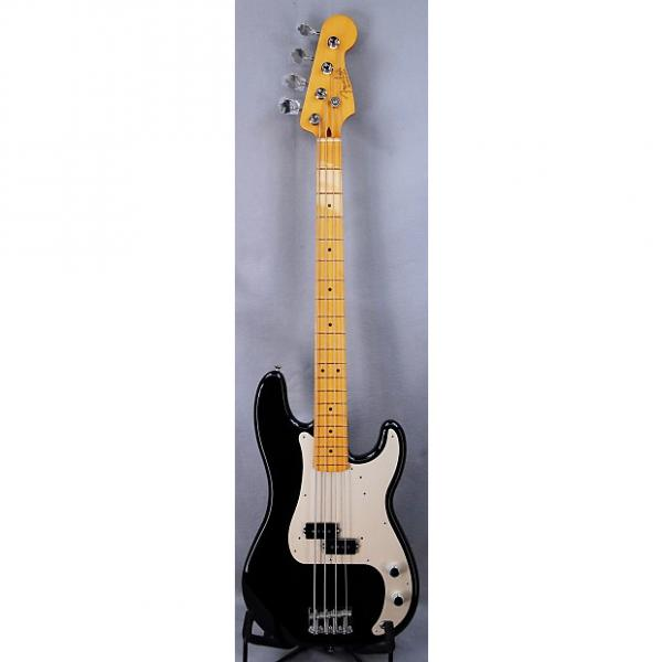 Custom Fender Classic Series '50s Precision Bass Lacquer Black with Maple Neck & Case - Blem Deal! #1 image