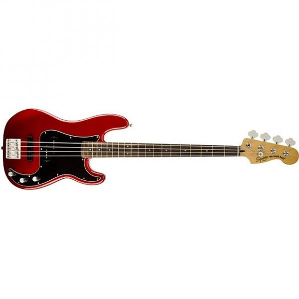 Custom Squier Vintage Modified PJ Bass Candy Apple Red #1 image