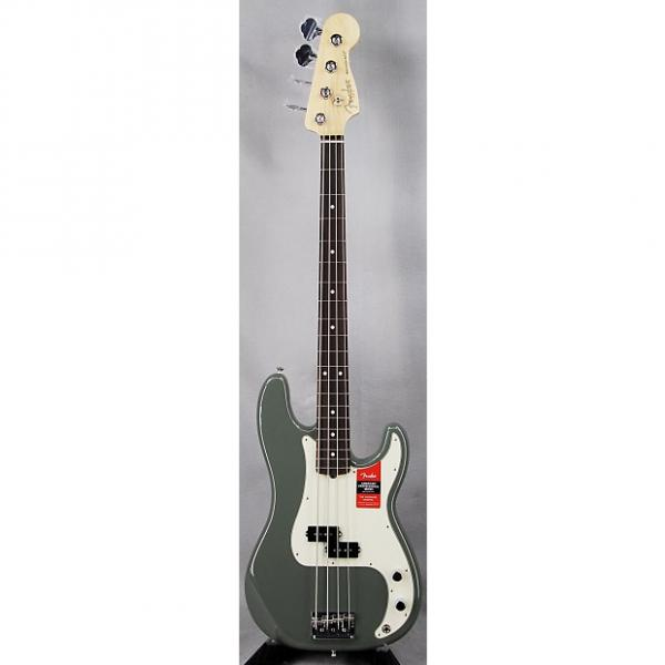 Custom Fender American Pro Precision Electric Bass Maple Fretboard w/Case Antique Olive #1 image