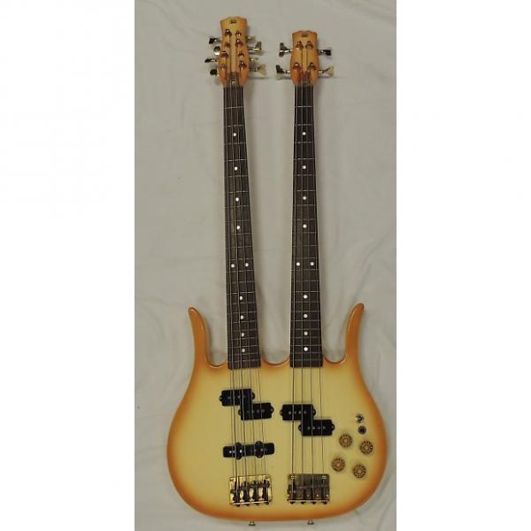 Custom Hondo Double Neck 4-8 Bass ? Cream #1 image