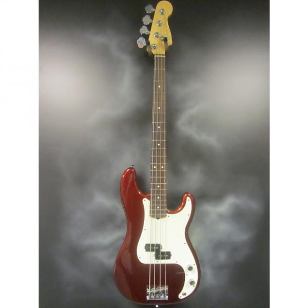 Custom Fender American Standard Precision Bass Guitar Candy Apple Red #1 image