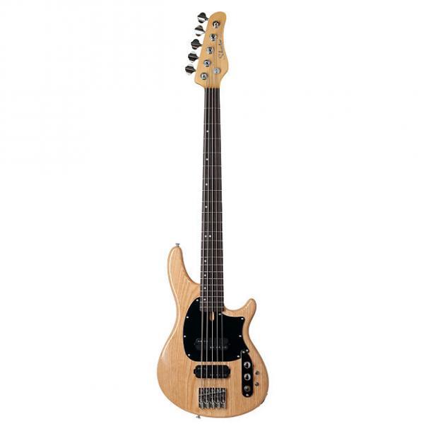 Custom Schecter 2493 5-String Bass Guitar, Gloss Natural, CV-5 #1 image