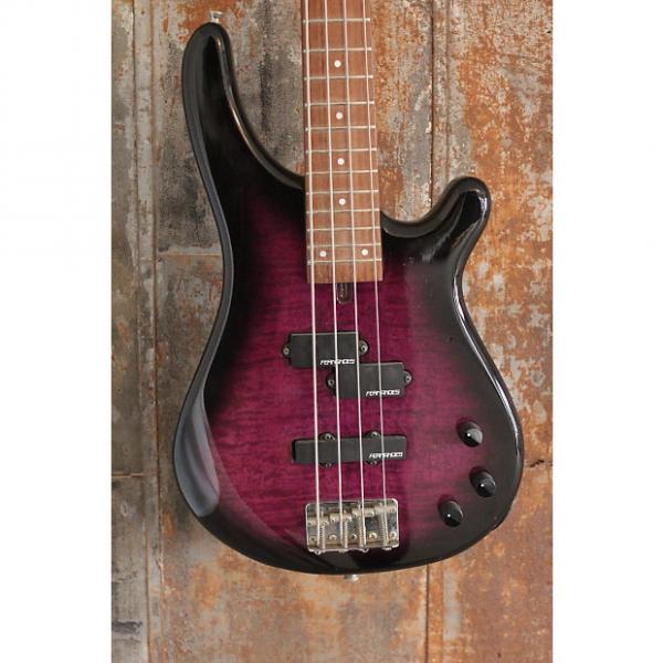Custom Fernandes Japan FRB-40 Revolver 4 String Bass, Purple Burst, Ships WW #1 image