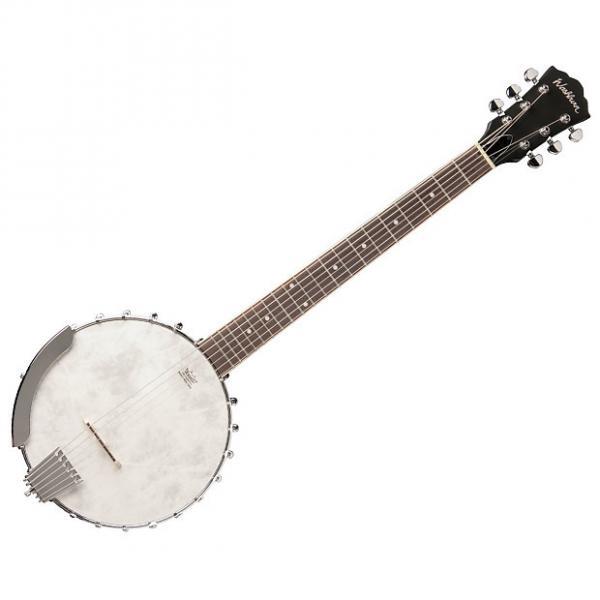 Custom Washburn B6 6-String Banjo Natural Matte Remo Head - B-Stock #1 image