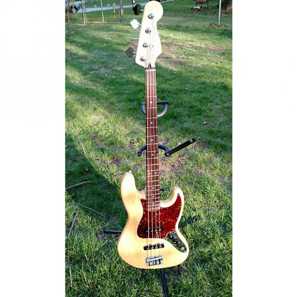 Custom Fender Special Edition Deluxe Ash Jazz Bass Natural #1 image