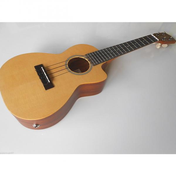 Custom Lani LC50CE Spruce Top Concert Electro Acoustic Ukulele with Pickup,Pre Amp & Digital Tuner #1 image