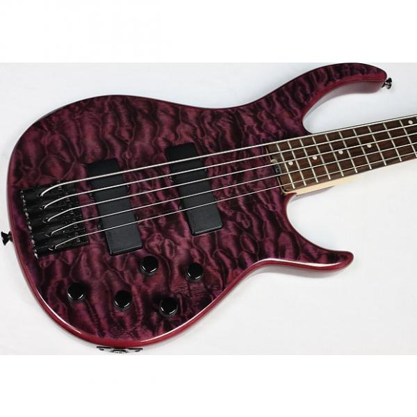 Custom Peavey Millennium 5 AC BXP 5-String Bass, Black Violet, Quilted Maple Top #40260 #1 image