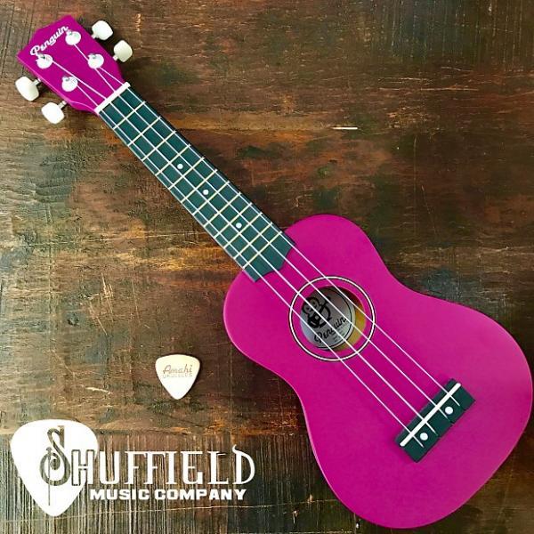 Custom Amahi Penguin Purple Soprano Ukulele w/ Amahi Leather Pick #1 image