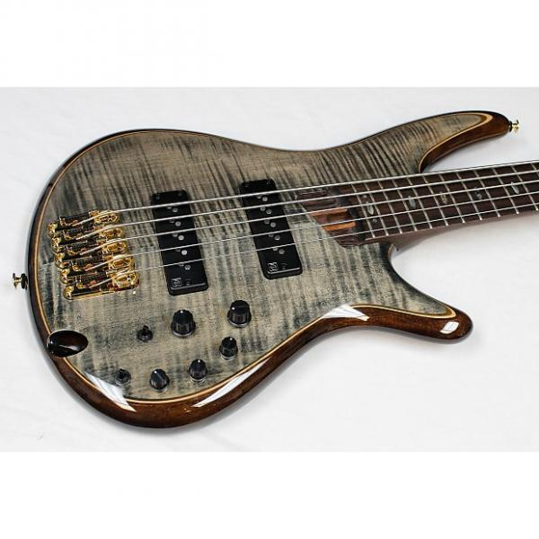 Custom Ibanez SR1405E Premium 5-String Bass Transparent Gray Black Finish, NEW!! #34754 #1 image