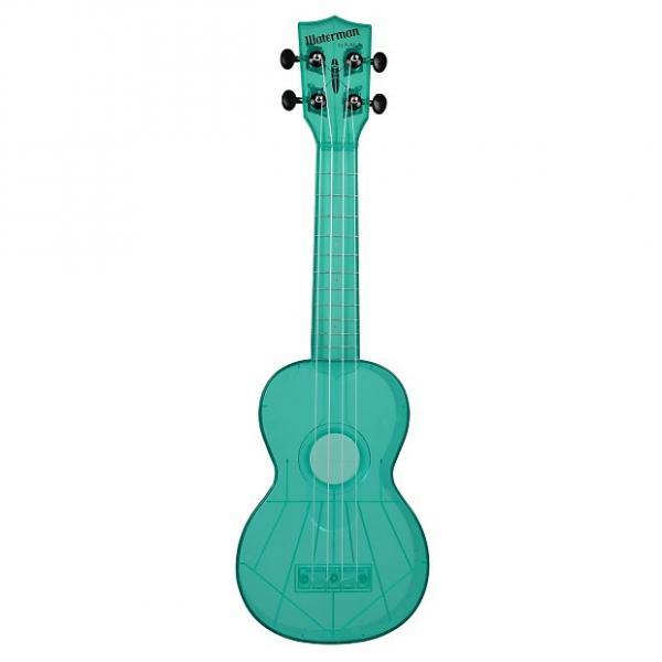 Custom Kala KA-SWF-BL Waterman Soprano Ukulele - Fluorescent Blue Gloss #1 image