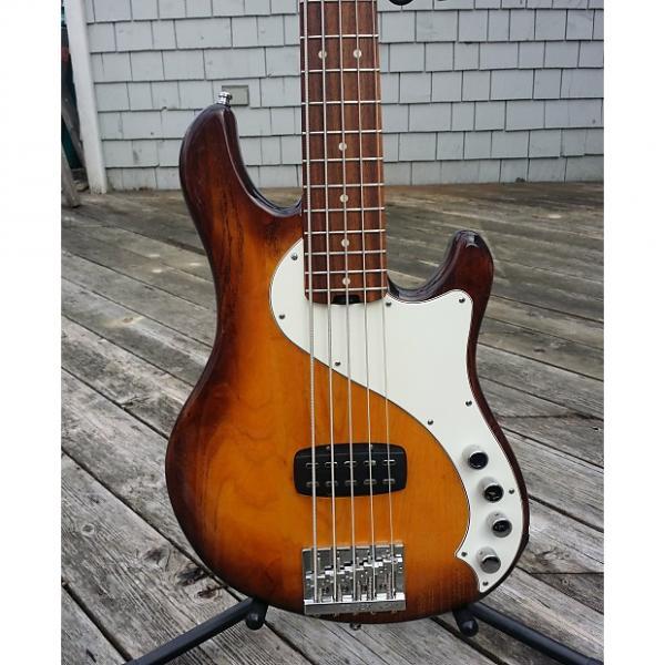 Custom Fender American Deluxe Dimension Bass V 2016 Violin Burst #1 image