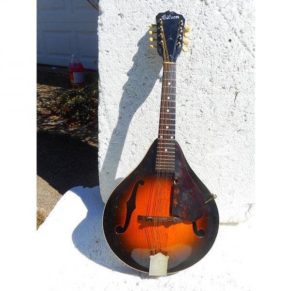 Custom Gibson A-1 Mandolin, Late 30's, F Hole, Sunburst, Needs Minor Work #1 image