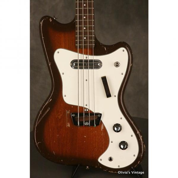Custom Silvertone Bass model 1442L Slimline 1960s Brown Burst #1 image