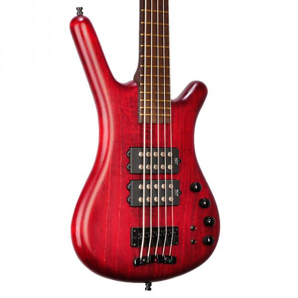 Custom Warwick Corvette $$ 5 string Ash Red Satin Finish - Used - 9.5 pounds - B-159480-13 #1 image