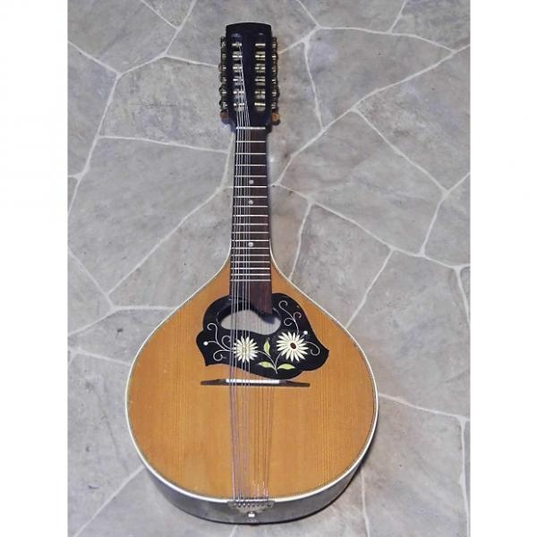 Custom fine old green MANDRIOLA 12string teardrop mandolin mando GERMANY 1920s #1 image