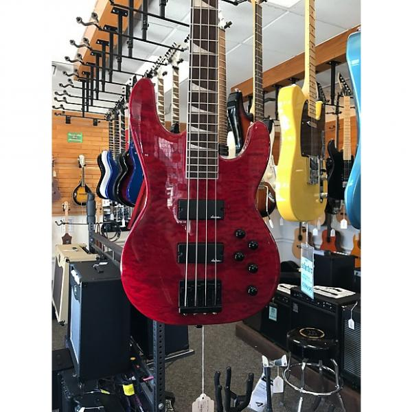 Custom Jackson JS3QM Trans Red 4 String Bass #1 image
