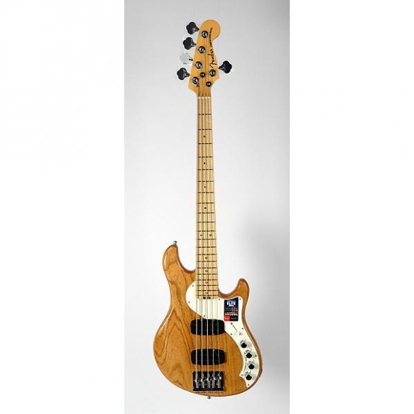 Custom Fender American Elite Dimension Bass V HH w/ OHSC & Case Candy 2016 Natural #1 image