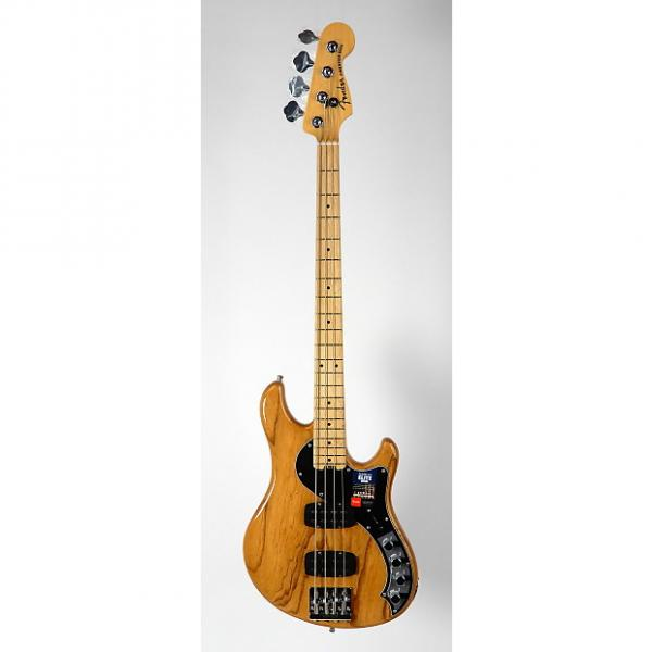 Custom Fender American Elite Dimension Bass IV HH w/ OHSC & Case Candy 2016 Natural #1 image