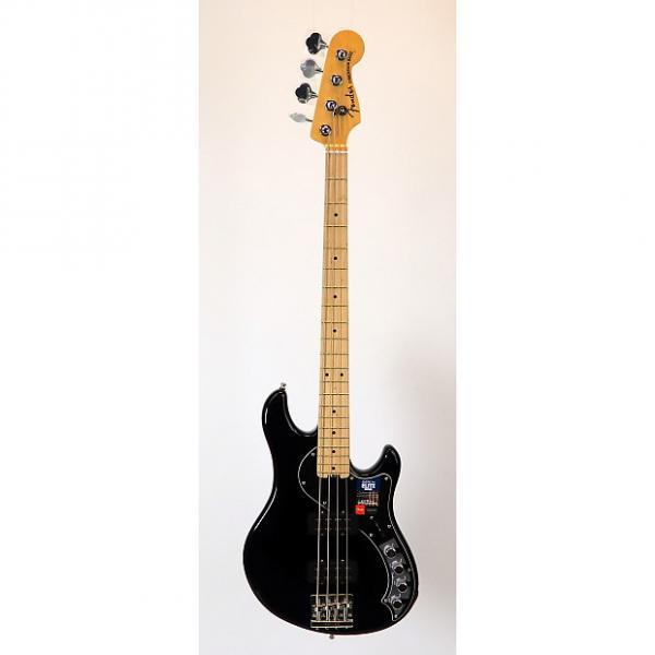 Custom Fender American Elite Dimension Bass IV HH w/ OHSC & Case Candy 2016 Black #1 image
