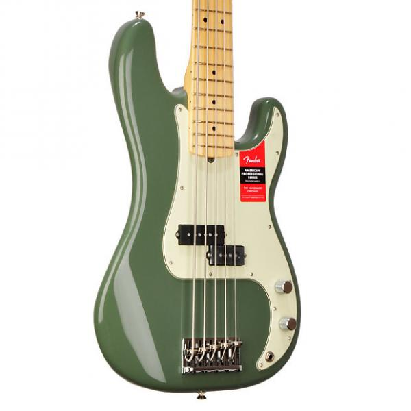 Custom Fender American Professional Precision Bass V  9.7 pounds - US17007313 2017 Olive Green #1 image