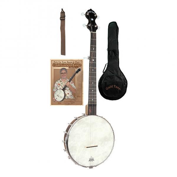 Custom Gold Tone CC-OTA A-Scale Cripple Creek Banjo Clawhammer Package #1 image