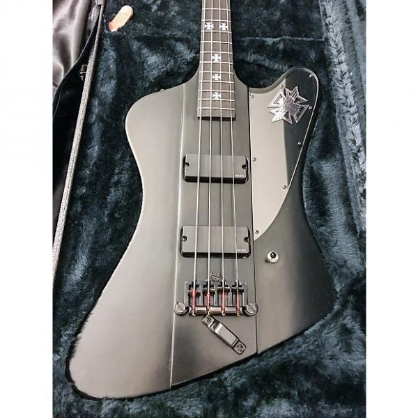 Custom Gibson Blackbird Nikki Sixx Signature 4 string bass 2002 Satin Black #1 image