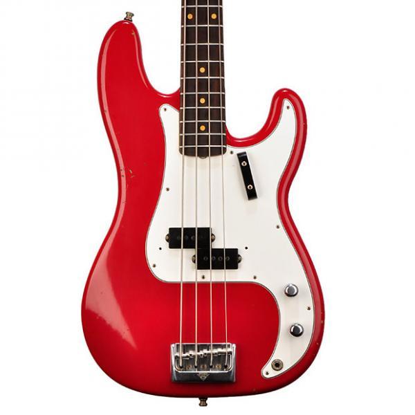 Custom Fender Custom Shop Journey Man Relic Bass in Dakota Red - #0081 - 8.3 pounds 2017 Dakota Red #1 image
