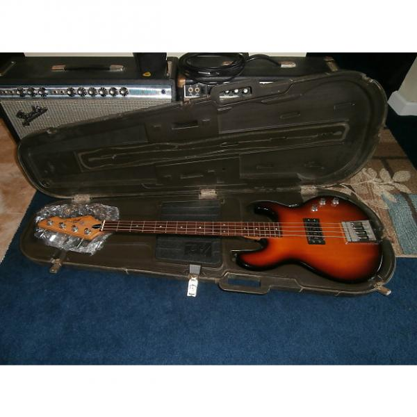 Custom Vintage 1982 Peavey T-45 Bass Guitar w/ Original Case! Sunburst w/ Rosewood Fretboard! #1 image